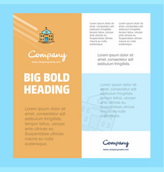 hotel business company poster template with place vector image