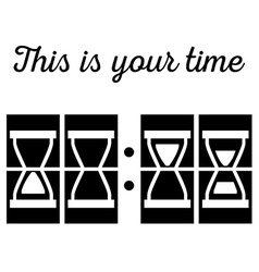 Hourglass sandglass in vector image