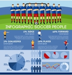 Infographic Soccer With Team And Gate vector