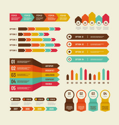 infographic template economic charts marketing vector image