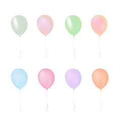 isolated colorful pastel gathering event air vector image