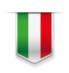 Italy flag ribbon vector