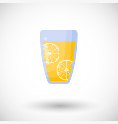 Lemonade flat icon vector