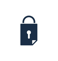 lock document logo icon design vector image