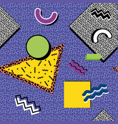 memphis pattern 80s vector image