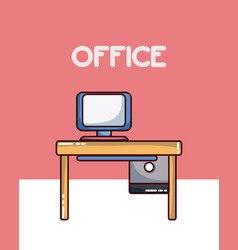 Office workplace elements vector
