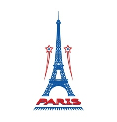 Paris France city label or logo vector