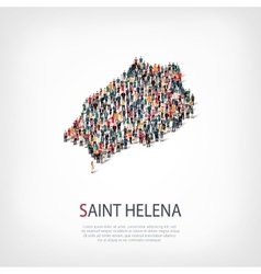 People map country Saint Helena vector