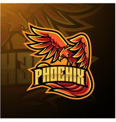 Phoenix sport mascot logo design vector