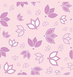 Pink purple tulip allover seamless print vector