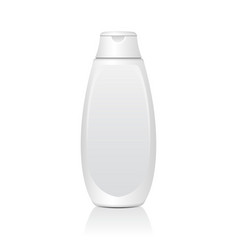 realistic white cosmetic bottles tube or vector image