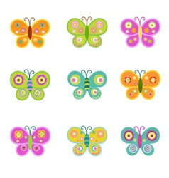 Retro Butterflies vector image