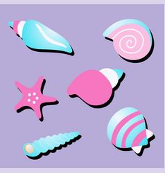 Sea shells and star vector