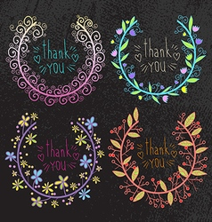 Set of flowers arranged vector