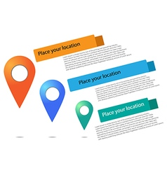 - Set of round 3D map pointers vector