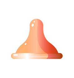 Side view of latex condom without packaging vector