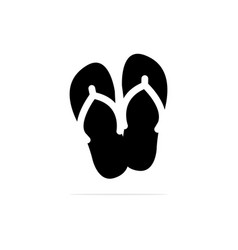 slippers icon concept for design vector image