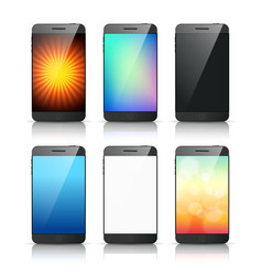 smartphone bg vector image