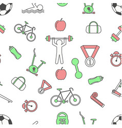 Sport seamless pattern modern thin line vector