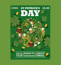 st patricks day irish style vector image