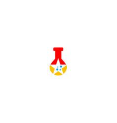 star chemical logo vector image