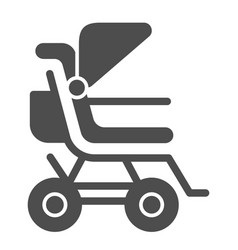 Stroller solid icon bapushchair vector