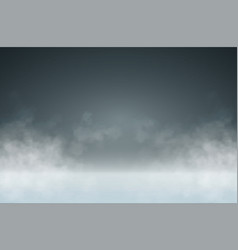 Studio background with smoke or mist vector