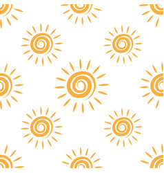 sunny repeating texture in yellow colors vector image