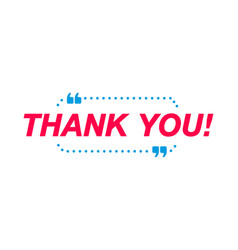 thank you labels speech bubbles and marketing vector image