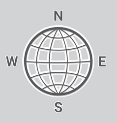 The globe and the four sides of the world vector