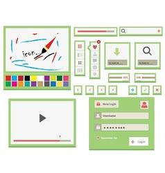 UI Web Elements vector image vector image