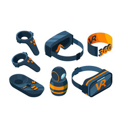 vr isometric icon immersed virtual reality vector image