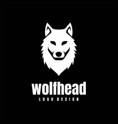 Wolf dog fox coyote jackal head logo design vector