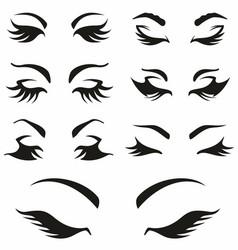 Womans sexy luxurious eye vector