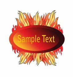 Abstract Fire Glossy Speech Bubble vector image vector image