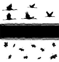 autumnal cranes vector image vector image
