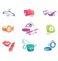 Fashion Accessories Icon Set vector image