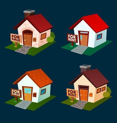 house for sale and rent vector image vector image