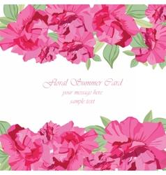 Vintage Spring Summer delicate peony vector image vector image