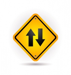 yellow sign vector image vector image