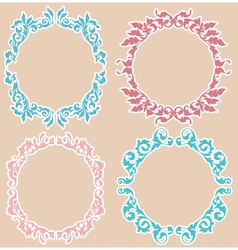 four floral frames vector image vector image