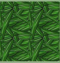 seamless pattern hand drawn cucumber vector image