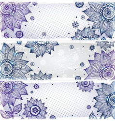 Sunflower bookmarks vector image