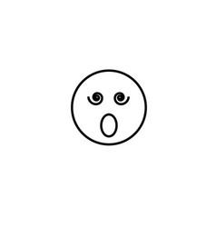 surprised emotion icon vector image