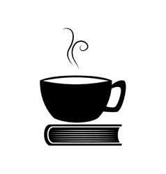 cup book drink read icon graphic vector image