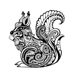 decorative squirrel vector image vector image