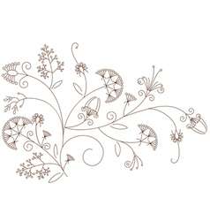 Floral pattern plant ornament vector image vector image