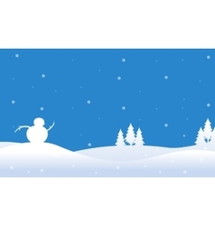 Holiday christmas with winter landscape vector
