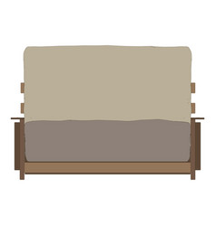 sofa furniture soft couch icon design home vector image