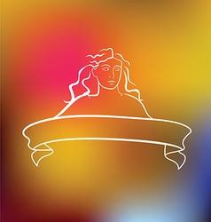 Beauty woman Embleme vector image